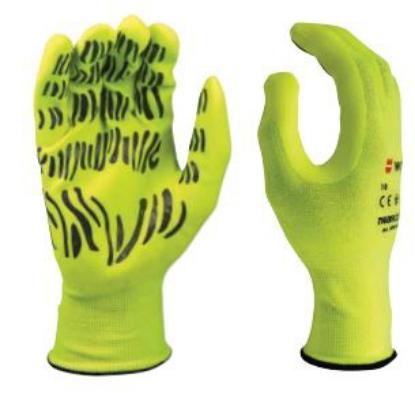 Tigerfleх hi-lite ракавици со Tiger шари во флуорсцентна боја.