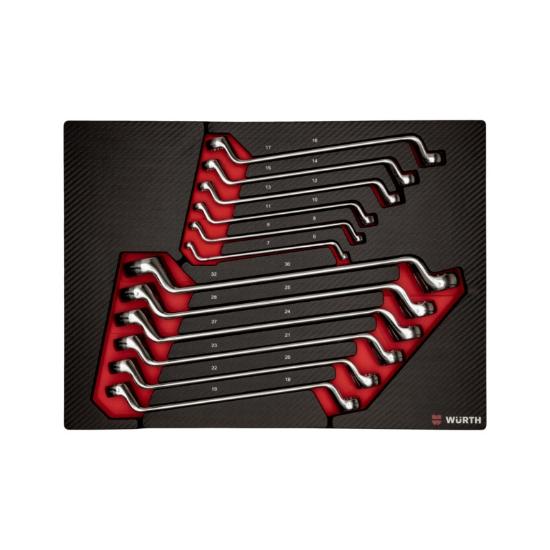 Слика на Сет ZEBRA дупло окасти клучеви, свиткани, 6-32 во неопрен, 12 парч.