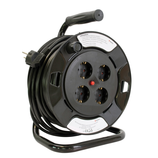 Слика на Продолжен кабел на пластична моталка, H05VV - F3G x 1,5 mm2