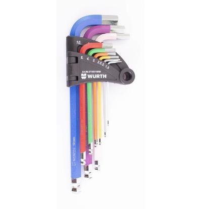 Слика на Сет имбус клучеви во боја, 1,5 - 10, 9 парч.